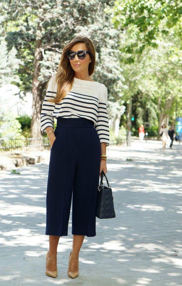 Спідниця-брюки: кому підходить, з чим носити
