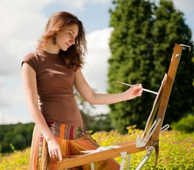 Дівчина-художник