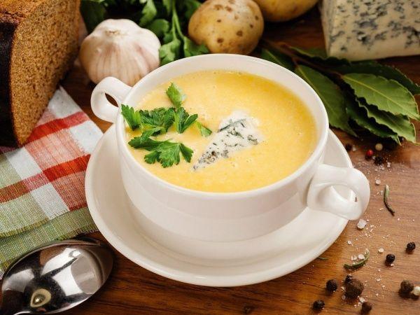 Рецепт супу-пюре з сиром і куркою