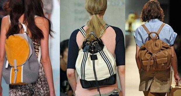 рюкзаки на спині