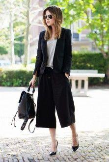 спідниця-штани та піджак з рюкзаком