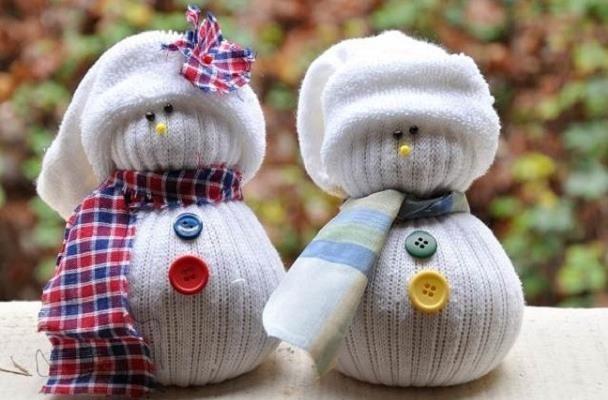 Сніговик з носка - майстер клас