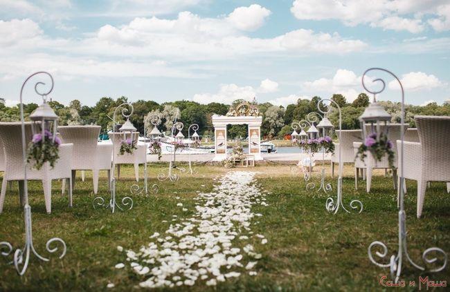 Весілля в стилі Прованс на свіжому повітрі