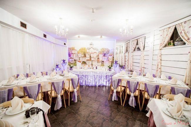 Весілля в стилі Прованс в ресторані