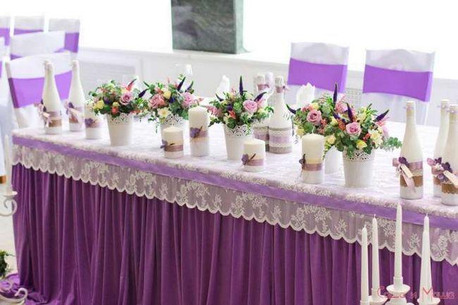 Весілля в стилі Прованс прикраса столу