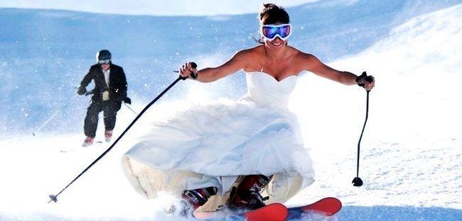 гірськолижна весілля