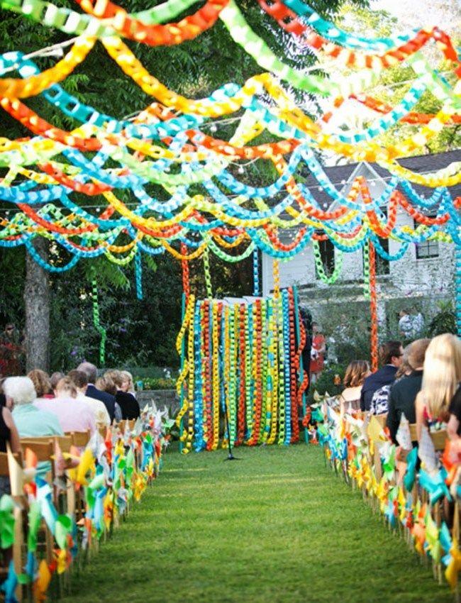 Паперовий декор на весілля