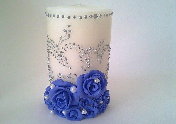 Прикраса свічок на весілля своїми руками