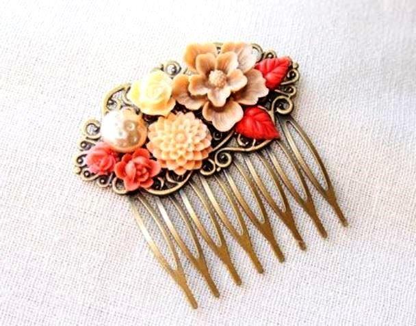 Шпильки-квіти для волосся