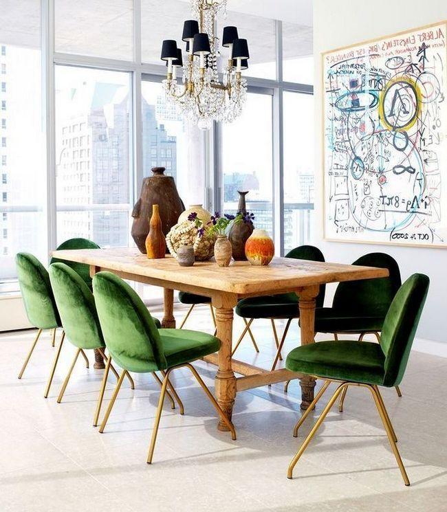 Зелений колір в інтер`єрі - запорука гармонії в будинку