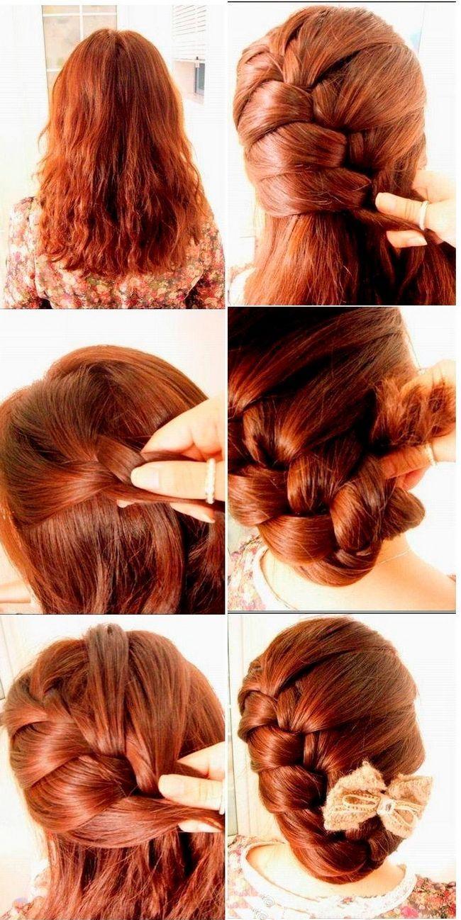 Коса для середніх волосся