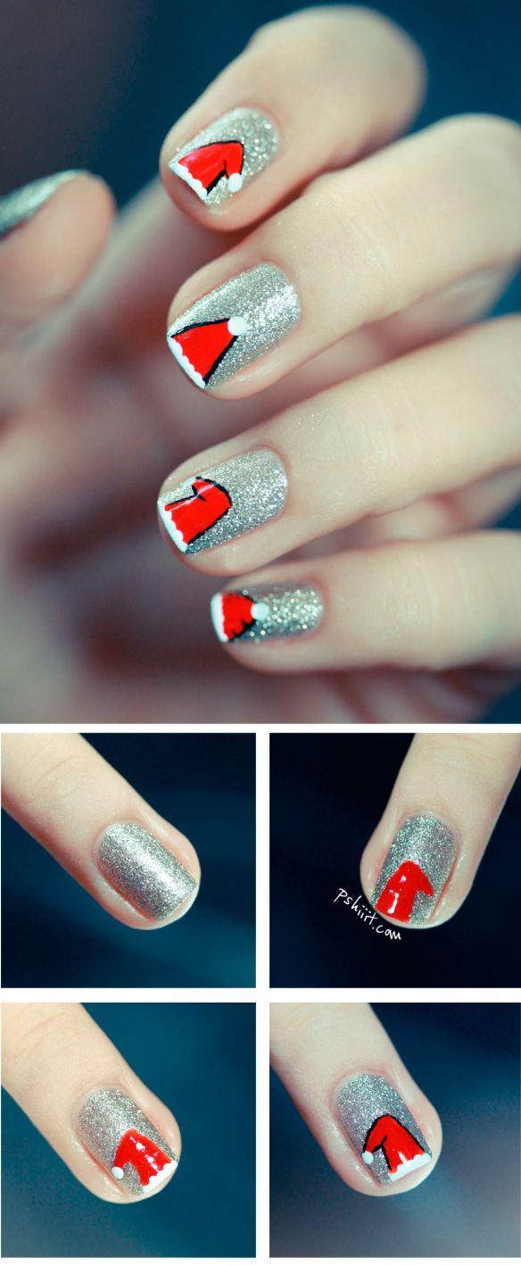 Санта-Клаус на нігтях