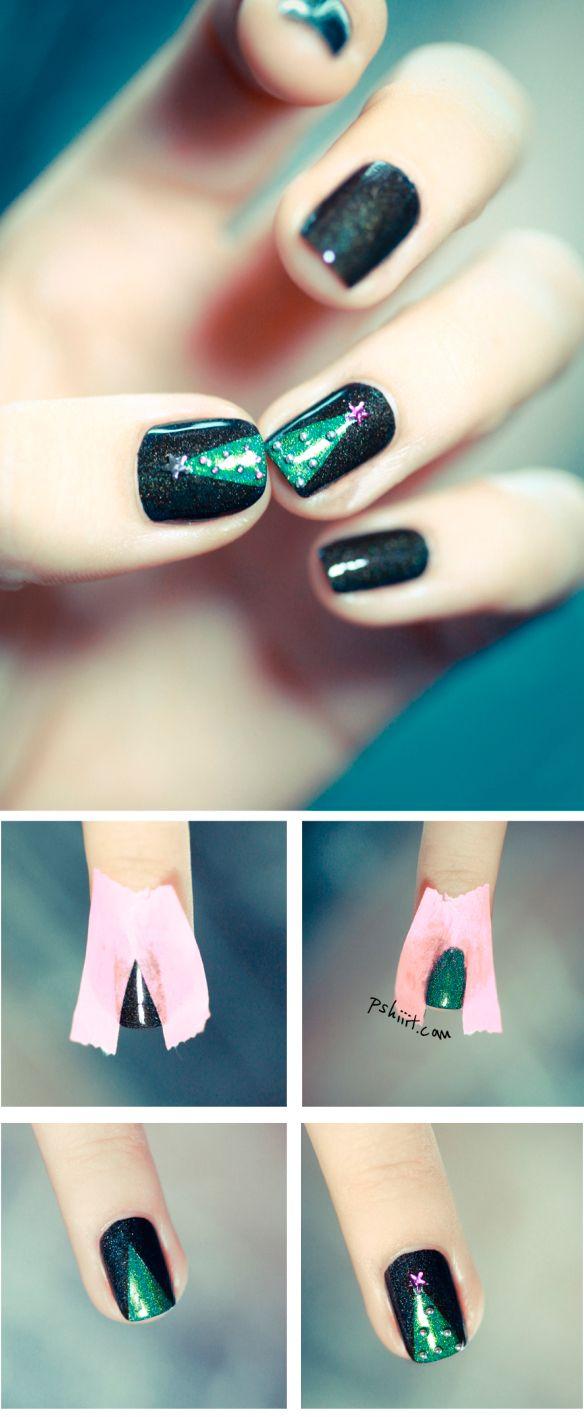 Ялинка на нігтях